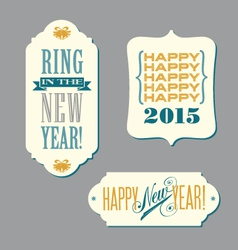 Happy new year vintage typography designs vector