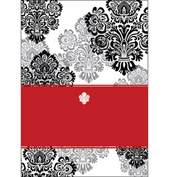 black and red background and white frame vector