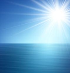 Tropical sunny summer sea vector