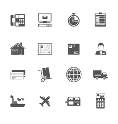 Black and white logistic service icon vector
