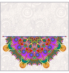 Round pattern in ukrainian oriental ethnic style vector