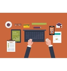 Full circle of concept e-commerce vector
