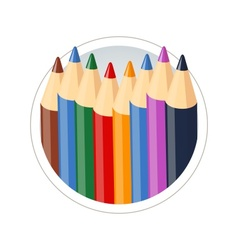 Set of colour pencils for vector