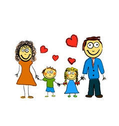 Cute family vector