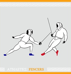 Athlete fencers vector