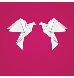 Origami pigeons vector