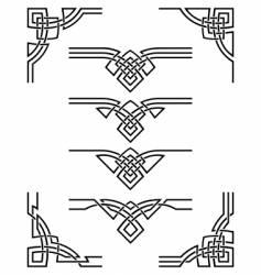 Ornament set vector