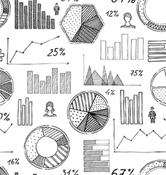 Seamless pattern of hand-drawn infographic vector