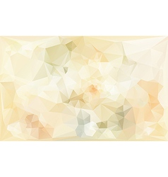 Poligonal abstract background in beige tones vector