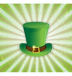 Leprechaun hat with gold buckle vector