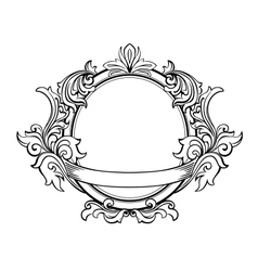 Retro frame with decorative floral elements vector