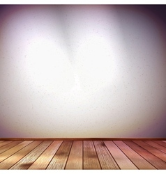 Wall with a spot illumination eps 10 vector