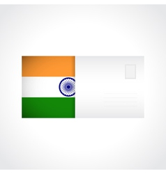 Envelope with indian flag card vector