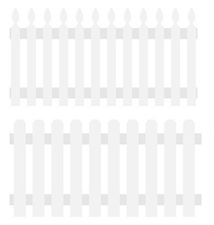 Two white fences vector