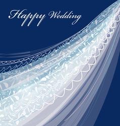 Wedding veil vector