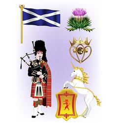 A collection of scotland vector