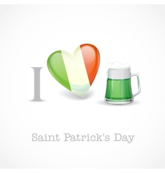 St patricks day i love beer vector