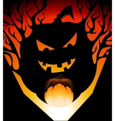 Halloween pumpkin shadow vector