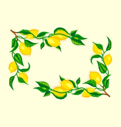 Stylized lemon corner frame vector