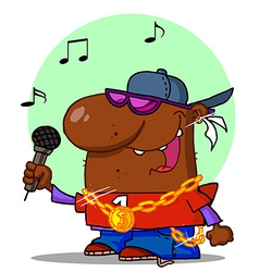 Hip hop cartoon vector
