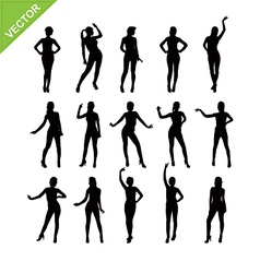 Sexy women silhouettes vector