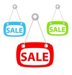 Sale signboard vector
