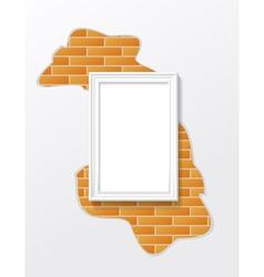 Frame on a brick wall vector