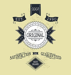 Hand lettered catchword vintage tag vector