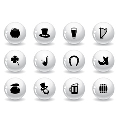 Web buttons st patricks day icons vector