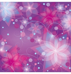 Bright colorful floral background vector