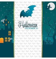 Halloween gradient banner vector