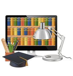Computer library concept vector