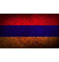Flag of armenia with old texture vector