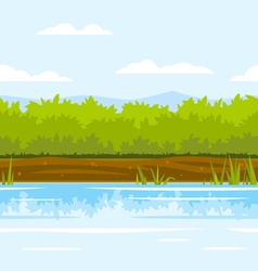 Bushes game background vector