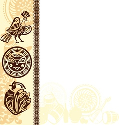 Picture frame with ethnic vector