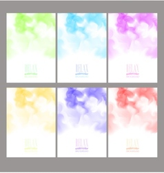Set of bright colorful watercolor background vector