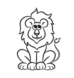 Lion black and white vector