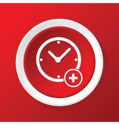 Add time icon on red vector