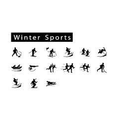 A mega set of 15 winter sport icons vector