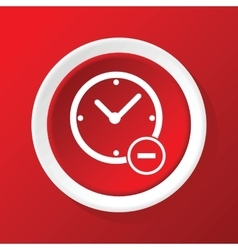 Reduce time icon on red vector