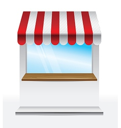 Store with striped awning - vector