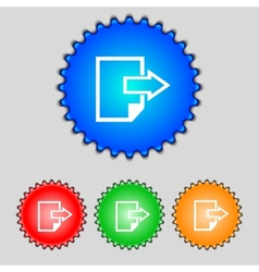 Export file icon file document symbol set of vector