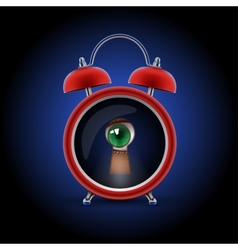 Clock with keyhole eye vector