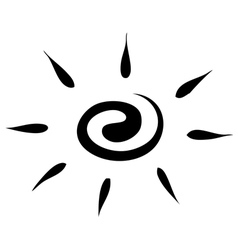 Sketch sun on a white background icon vector