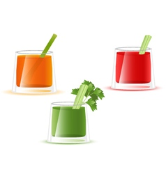 Juice glass of vegetable vector