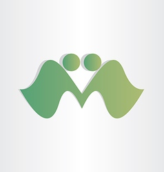 Handshake businessman agreement letter m abstract vector