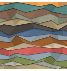 3d colored paper background origami style vector