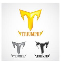 Triumph gold symbol vector