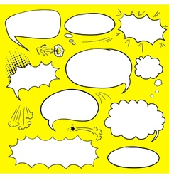 Set comics bubbles vector