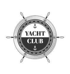 Yacht club logo vector